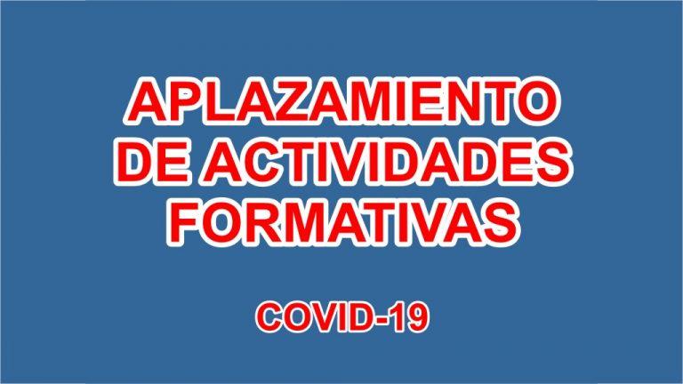 2020-03-13 Aplazamiento actividades